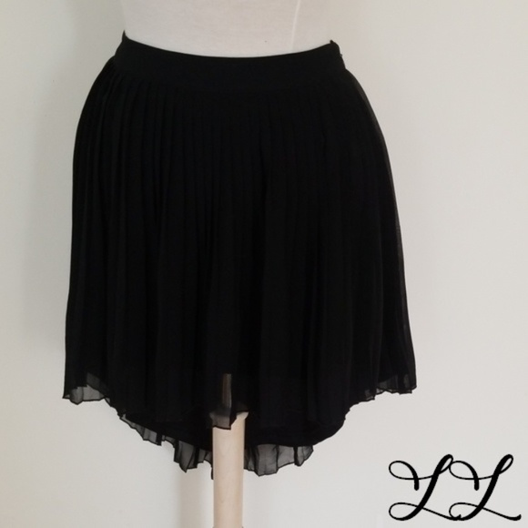 American Eagle Outfitters Dresses & Skirts - **4 for $40** AEO Black Skirt Sheer High Low Sexy